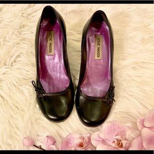 Steve Madden black kitten heels - size 7.5